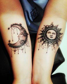Sun and moon #ilovemytattoo#bohemianstyle #bohemiantattoo#suntattoo #moontattoo #inyourlife #youcandoit #kapookmakeup #beproudofyourself