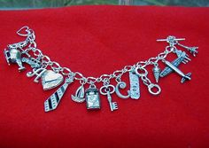 50 Fifty Shades of Grey Ana's Charm Bracelet by theforksforest, $28.00