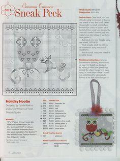Gallery.ru / Фото #39 - Just Cross Stitch 07-08.11 - Los-ku-tik; Holiday Hootie; Christmas ornament from Russia; very cute!