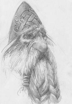 Paul Bonner, Fantasy Dwarf, Shetland, Artist Sketchbook, True Art, Fantasy Artwork, Fantasy Creatures, Faeries, Character Art