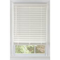 LEVOLOR Cordless White Faux Wood Room Darkening Blinds (Common: Actual: x at Lowe's. Bring a fresh, modern look to your windows and increase the privacy in your home with Levolor cordless Plantation blinds. These white faux wood blinds White Faux Wood Blinds, Faux Blinds, White Blinds, Mini Blinds, Blinds For Windows, Window Blinds, Small Windows, Lowes Wood, Room Darkening Blinds