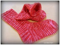 aus handgefärbte Sockenwolle ,