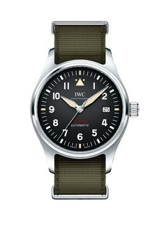 montre luxe collection: Montre IWC Pilots Automatic Spitfire in Steel or Bronze Iwc Watches, Cool Watches, Dream Watches, Top Gun, Iwc Chronograph, Iwc Pilot, Luxury Watches For Men, Beautiful Watches, Automatic Watch