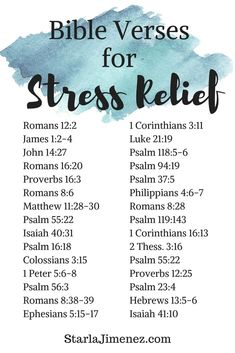 Encouraging Bible Verses: Bible verses for stress relief. Have faith in and spend time with God and experience love, guidance, peace and comfort. Bible Verses About Stress, Bible Encouragement, Bible Verse For Stress, Positive Bible Verses, Bible Verses For Strength, Bible Versus About Strength, Bible Verses For Depression, Quotes Positive, Verses About Healing