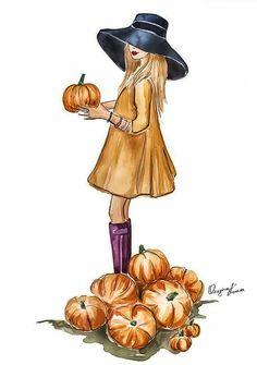 67 New Ideas Fashion Wallpaper Autumn Halloween Illustration, Autumn Illustration, Illustration Mode, Ballet Illustration, Fall Drawings, Bff Drawings, Autumn Aesthetic, Fashion Wallpaper, Autumn Art