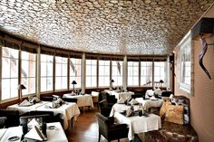 Restaurant at Le Lodge Park Hotel in Megeve