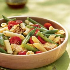 Penne, Crispy Tofu, and Green Bean Salad | MyRecipes.com #myplate #vegetable