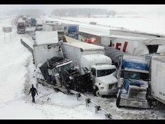 Multi Vehicle crash Ohio Turnpike Storm from My Camera #ohio #crash