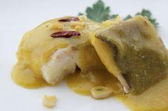 Lomo de Bacalao con Pil Pil Ligero | Encuentra más información de este y otros menús en http://www.quintadelalba.com/paginas-de-aterrizaje/ejemplos-de-menu.html