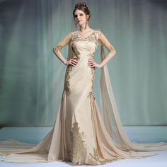 Find More Evening Dresses Information about New Arrival branded designer 31330 golden applique empire sheath elegant long evening dress 2015 new arrival formal dresses,High Quality dress up hot men,China dress long sleeve tunic dress Suppliers, Cheap dresses movie from Shenzhen LZB Led Lighting Company on Aliexpress.com