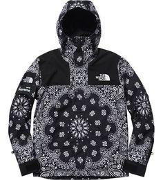 Supreme X North Face Black Bandana Jacket