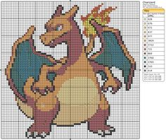 Click the image to enlarge, right click and select Save As to download the pattern.To see what it'll look like stitched, check out what other people have made below. Charizard Mousepad by ~ariesangel05 on deviantART charizard cross stitch by ~Drewix on deviantART Charizard Pokemon Cross-Stitch #1/100 SOLD! by ~lizardlea on deviantART Charizard by ~MidniteDancer-D on…