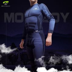 Thermal Motorcycle Base Layers Compression Suits,Athletic Compression Sports Running Long Sleeve T Shirt&Long Johns Pants Suit by MOTO-BOY