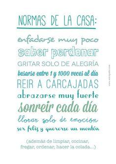 α JESUS NUESTRO SALVADOR Ω: Normas de la casa: saber perdonar, abrazarse muy f...