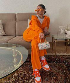 French Fashion Tips .French Fashion Tips Dope Outfits, Trendy Outfits, Girl Outfits, Fashion Outfits, Orange Outfits, Swag Fashion, Fashion Pants, Street Fashion, Fashion Tips