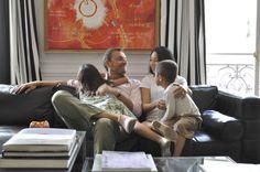 中村江里子、子供、子育て、イクメン、パリ