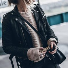 a leather jacket to use this winter season