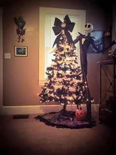 gothic halloween decorations jack skellington nightmare before christmas christmas tree