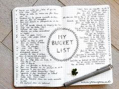 Love the idea of the title in the middle... Also give more space for my bucket list as it's pretty long