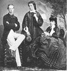 Mathilde Trani (center), Maria Sophie (right), and Ludwig Viktor of Austria   Grand Ladies   gogm