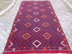 "Anatolian Turkish Classic Kilim Rug Carpet 67"" x 122"" (170cm x310cm)"