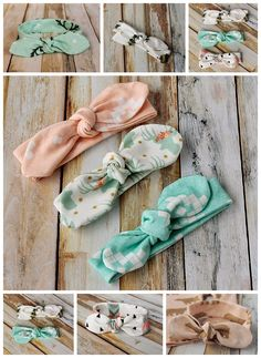 Knot Bow Headband Pattern and Tutorial - Easy DIY Headband for Baby and Toddler.Knot Bow Headband Pattern -
