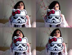 Fan photo: @Bobby Bennett, Hello Wars Storm Kitty pillow