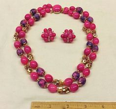 Vintage Brilliant Pink Beaded Double Strand by Shopperswelcome, $24.99