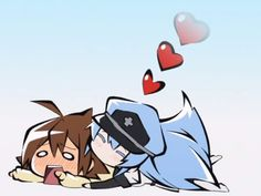 Akame Ga Kill Chibi - Esdeath and Tatsumi