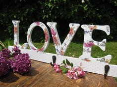 Love Floral Wooden Coat Hook, - Share the love this Christmas. Christmas Gift Guide, Christmas Gifts, Wooden Coat Hooks, Spring Sale, Is 11, Table Decorations, Floral, Xmas Gifts, Christmas Presents