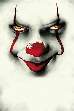 I'm Pennywise,the dancing Clown ! Le Joker Batman, Joker Art, Scary Wallpaper, Halloween Wallpaper, Hd Wallpaper, Scary Movies, Horror Movies, Film Mythique, Es Der Clown