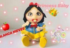 Moldes fofucha Blancanieves bebé Baby Princess, Princess Peach, Disney Princess, Decoupage, Minnie Mouse, Snow White, Diy, Scrapbook, Dolls