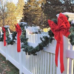 Love this fence my neighbor has decorated.  Perfect New England charm!  One week away is Christmas Eve and the first day of Hanukkah, where did the month go?  I say it's time to stop, enjoy the decorating, the cookie baking, and gift giving.