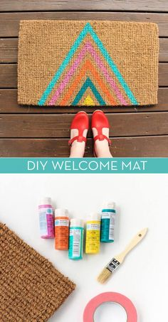 DIY Gifts for Your Parents | Cool and Easy Homemade Gift Ideas That Mom and Dad Will Love | Creative Christmas Gifts for Parents With Step by Step Instructions | Crafts and DIY Projects by DIY JOY  |  DIY-Welcome-Mat  | http://diyjoy.com/diy-gifts-for-mom-dad-parents