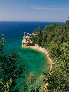 All time favorite Michigan Destination. Shhhh - don't tell anyone about: Pictured Rocks National Lakeshore, Munising Mich Michigan Vacations, Michigan Travel, Camping Michigan, Fall Vacations, Rv Camping, Great Places, Places To Go, Pictured Rocks National Lakeshore, Attraction