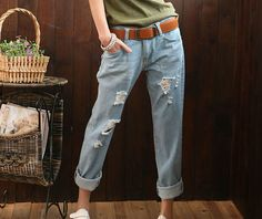 NEW 2014 Korean Loose thin hole Women's Jeans pants female harem Trousers Casual  Desigual Clothings for Cute woman Ladies J2110 http://alipromo.com/redirect/cpa/o/8fc7d0ac7f2a3686fe06c796350d826d