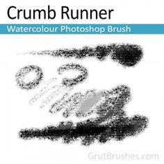 """Crumb Runner"" - Photoshop Watercolor BrushA heavily textured watercolour brush with a tremendously broad range. This sediment heavy brush can go from a fine stoke to a thick cover Watercolor Brushes, Watercolour, Artist Brush, Photoshop Brushes, Range, Cover, Adobe, Pen And Wash, Watercolor Painting"