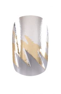HND Nail Wraps - Lightening Silver and Gold | Hollywood Nail Design £5.50 for a pack of 15.