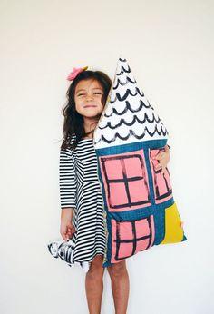 DIY Dollhouse pillow - A beautiful mess