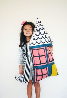 DIY Dollhouse pillow - A beautiful mess