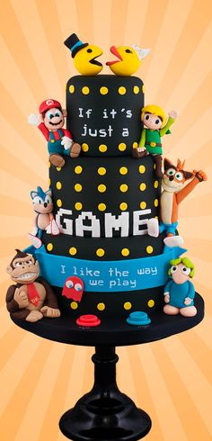 Video Game Love Cake