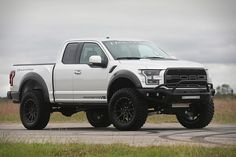 The Dodge Demon and Ford Raptor are two vehicles that don't roll off the assembly line needing help in the horsepower department, but that didn't stop Hennessey Performance from working its magic under the hood. New Ford Raptor, Raptor Truck, Ford Pickup Trucks, Chevy Trucks, Ford Velociraptor, Ford Explorer Accessories, Ford News, Trucks And Girls, Ford Expedition