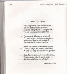 Versos Íntimos - Augusto dos Anjos