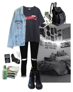 """""""15. Untitled"""" by thatssokalea on Polyvore featuring Boohoo, Levi's, Dr. Martens, Pieces and Issey Miyake"""