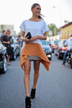 Outfit inspirations... on the streets of Milan! Love this but of course would need a longer skirt!!!