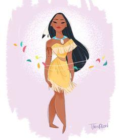 Pocahontas by Steve Thompson - Pocahontas Princess Pocahontas, Disney Princess Art, Disney Pocahontas, Disney Nerd, Disney Girls, Disney Movies, Disney Characters, Disney Princesses, Disney And Dreamworks