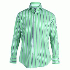 bdd86385 Like and Share if you want this David Wej Long Sleeve Stripe Button Shirt-  Green