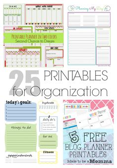 25 PRINTABLES to organize every area of your life. | LIFEAFTERLAUNDRY.COM | #freeprintables #organization