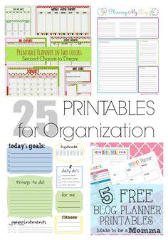 25 PRINTABLES to organize every area of your life. | LIFEAFTERLAUNDRY.COM | #freeprintables #organization