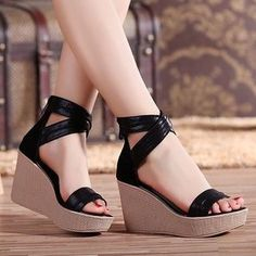 Buy 'Hannah � Genuine Leather Platform Wedge Sandals' with Free International Shipping at YesStyle.com. Browse and shop for thousands of Asian fashion items from China and more!